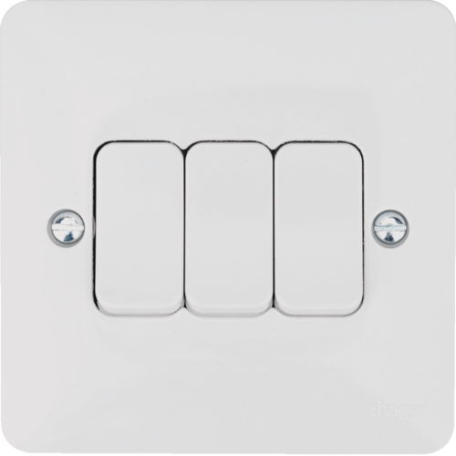 Hager Sollysta 10a 1 Gang 2 Way Light Switch White  H